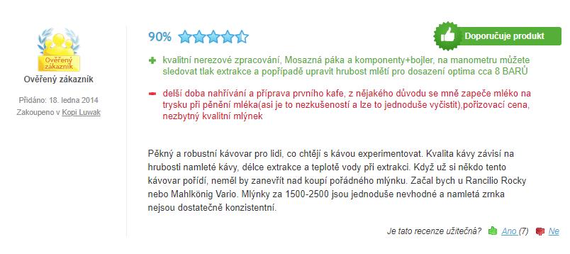 Lelit PL 41 - recenze