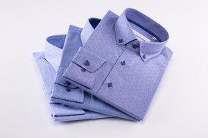 Tři modré pánské košile