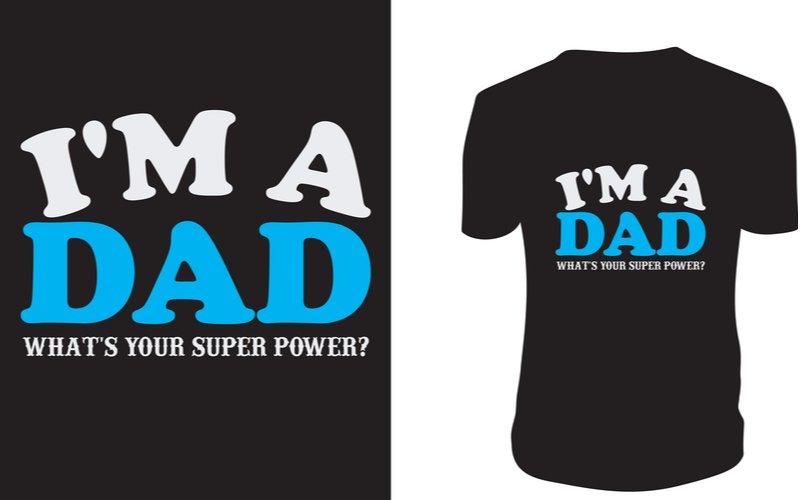 Vtipné černé tričko pro otce
