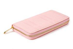 dámská růžová peněženka se zlatým zipem