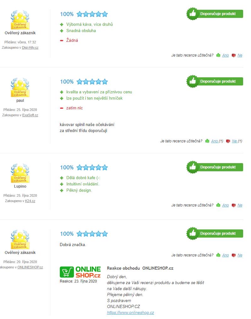 DeLonghi ECAM 45 760 W - recenze zákazníků