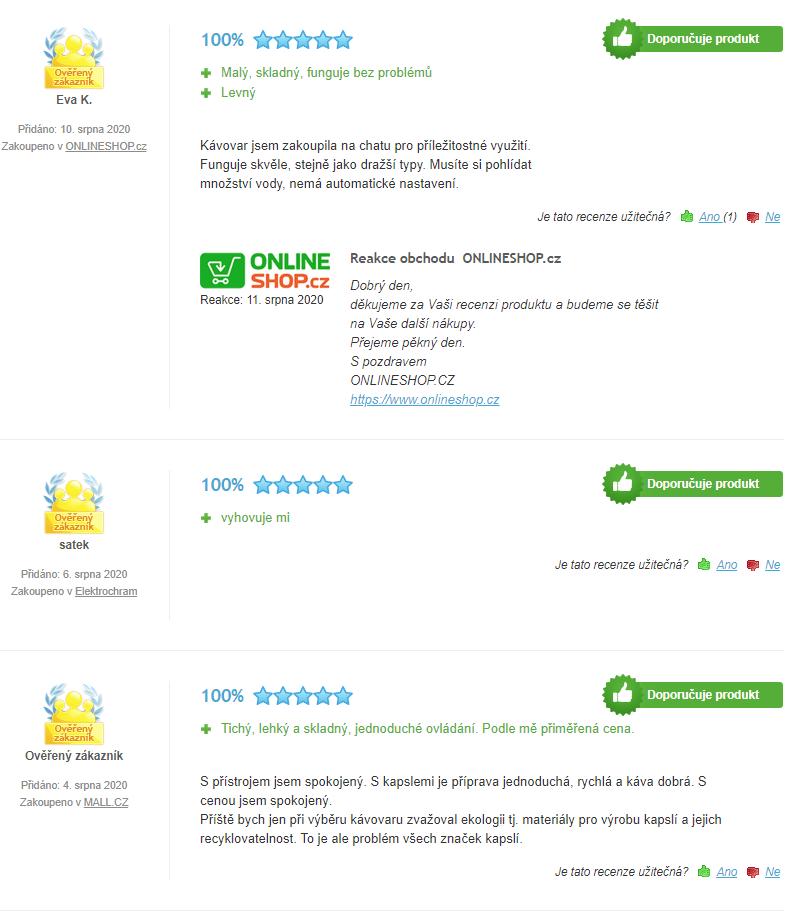 Krups KP100B Dolce Gusto Piccolo - hodnocení uživatelů
