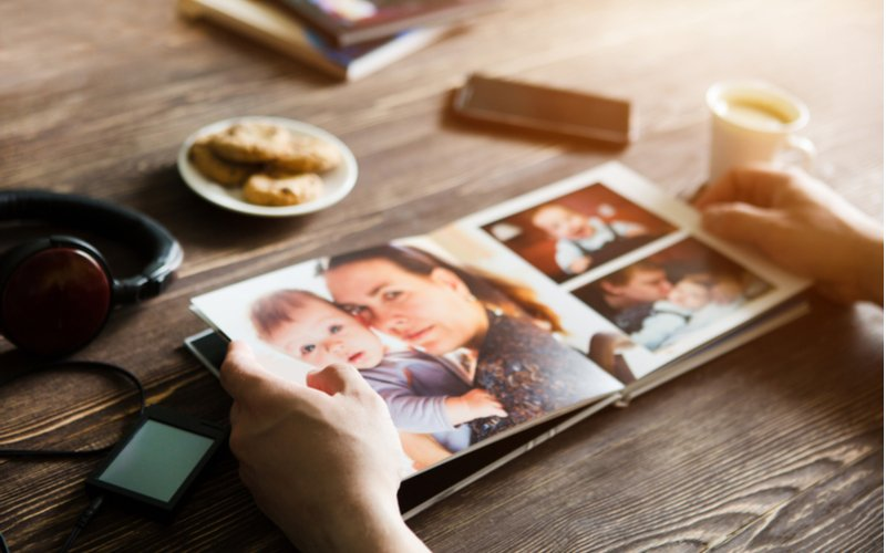 Fotokniha z rodinných fotek