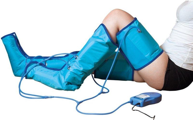 Modré nafukovací návleky na nohy