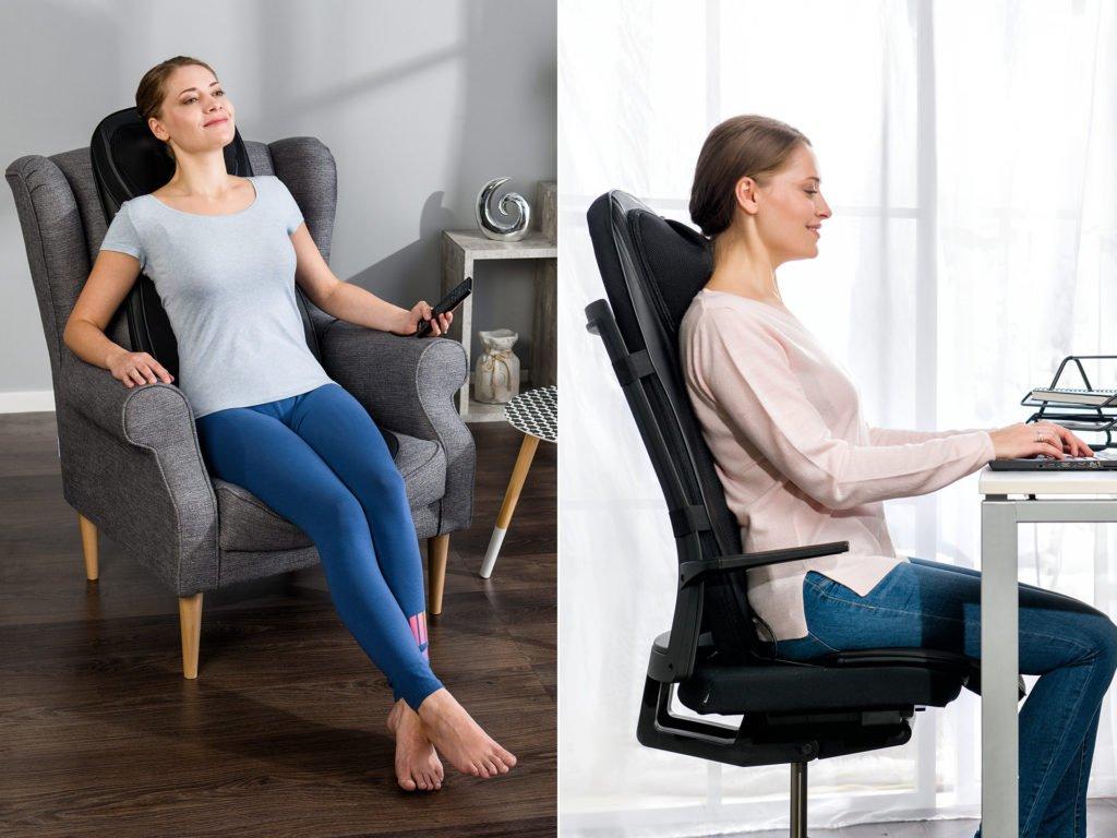 Masážní podložka zad a nohou Shiatsu 4v1 - použití