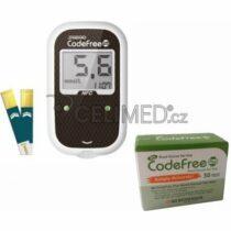 Biosenzor SD-Codefree Plus glukometr kompletní set + 50 proužků navíc