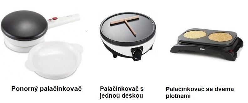 Tři typy palačinkovačů