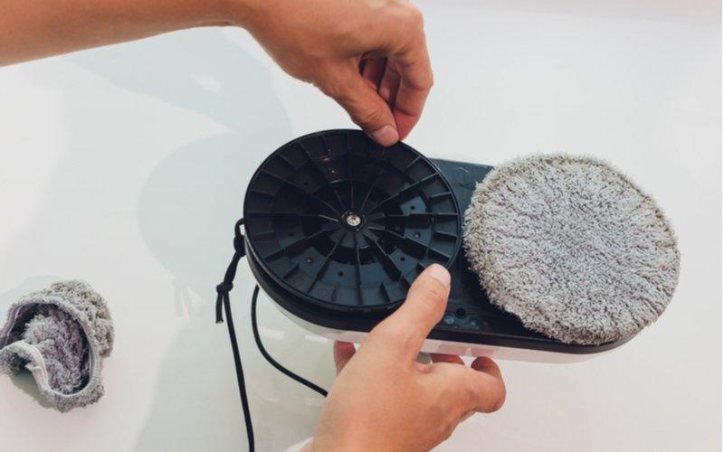 Výměna podložek na robotickém čistič oken