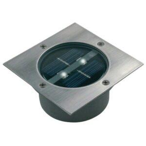 LED Solární reflektor se senzorem LED/0,12W/2xAAA IP67 nerez čtverec
