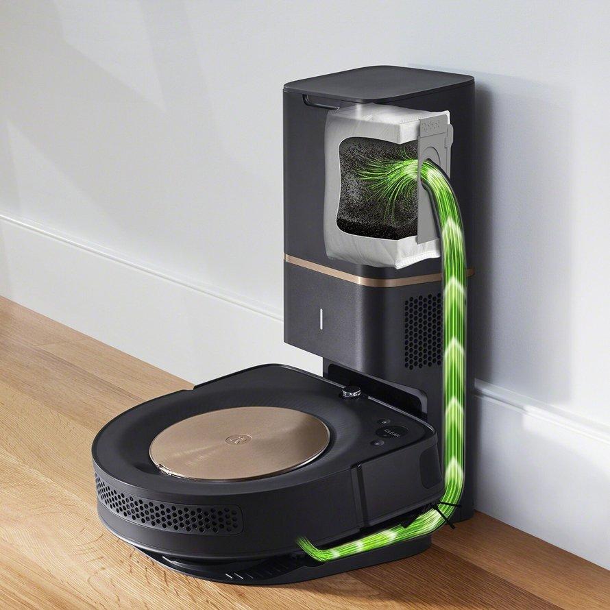 iRobot Roomba s9 + WiFi - automatické vyprázdnění odpadní nádoby