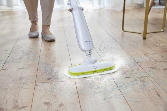 parní mop Rovus Nano použití, podlaha
