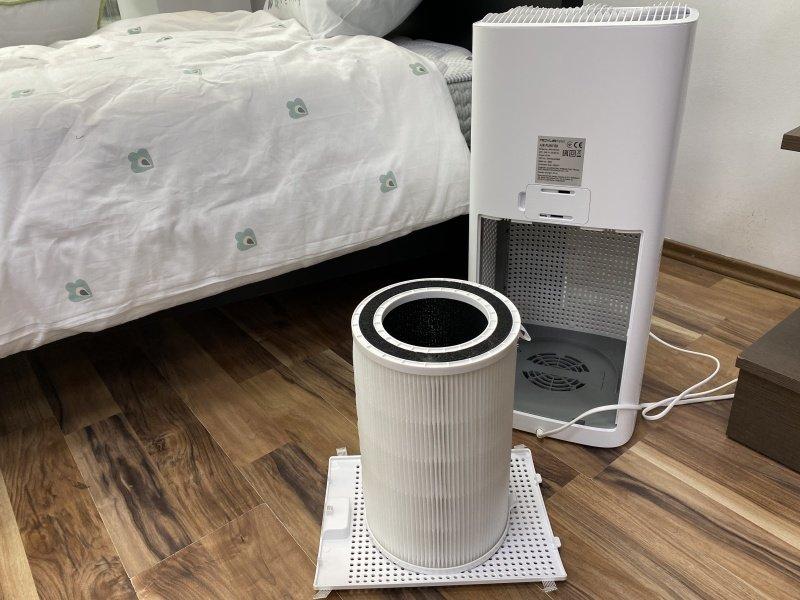 Filtr vybrán z čističky vzduchu